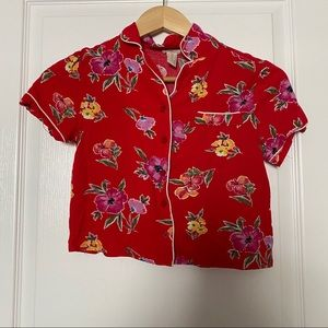Girls Forever 21 Floral Button Up